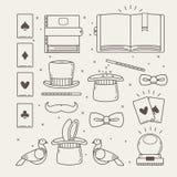 Magic Outline Icons Set Royalty Free Stock Photos