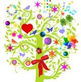 Magic paradise tree Royalty Free Stock Photos