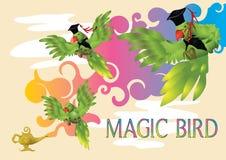 Magic parrot Stock Images