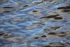 Magic patterns on the water. New moment stock image