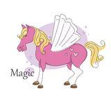 Magic pegasus. Royalty Free Stock Image