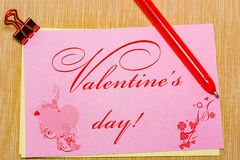 magic pen and paper note and paperclip on yellow background, minimal concept and similarities differences. Valentine s day. royalty free stock photography