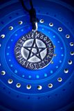 Magic pentagram royalty free stock photo