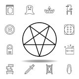 magic pentagram outline icon. elements of magic illustration line icon. signs, symbols can be used for web, logo, mobile app, UI, stock illustration