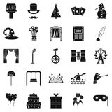 Magic performance icons set, simple style. Magic performance icons set. Simple set of 25 magic performance icons for web isolated on white background Stock Image
