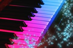 Magic piano Royalty Free Stock Images