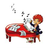 Magic piano Royalty Free Stock Photo