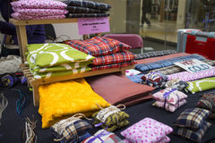 Magic pillows at craft fair Royalty Free Stock Photography