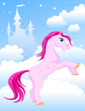 Magic pink horse Royalty Free Stock Images