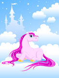 Magic pink pony Royalty Free Stock Photo