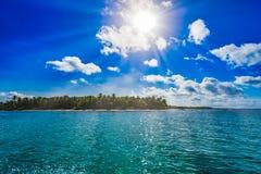 Magical paradise beach of the Caribbean sea Royalty Free Stock Photography