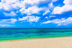 Magical paradise beach of the Caribbean sea Royalty Free Stock Images