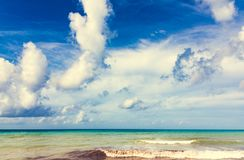 Magical paradise beach of the Caribbean sea Royalty Free Stock Photos
