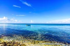 Magical paradise beach of the Caribbean sea Stock Photos