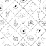 Magic place seamless pattern Stock Photos