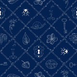 Magic place seamless pattern Royalty Free Stock Images