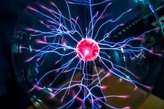 Magic plasma ball  close-up Royalty Free Stock Photography