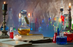 Free Magic Potion, Ancient Books, Candles Stock Photos - 97467193