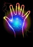 Magic Power. Vector illustration on black background Stock Photos