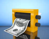 Magic Press for Making Money. 3d Rendering Stock Photography