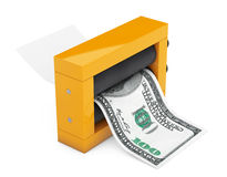 Magic Press for Making Money. 3d Rendering Royalty Free Stock Images