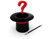 Magic question Royalty Free Stock Image
