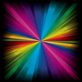 Magic radial Rainbow Light Stock Image