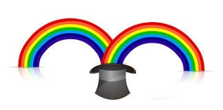 Magic rainbow hat Royalty Free Stock Photography