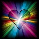 Magic Rainbow heart Royalty Free Stock Photography