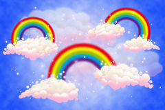 Magic Rainbows. In the clouds