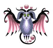 Magic ram with wings Royalty Free Stock Image