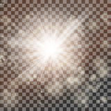Magic Rays Glow Light Flare Effect On Transparent Background. EPS10 Vector Royalty Free Stock Images
