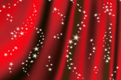 Magic red background. Beautiful red drapery background with stars Stock Images