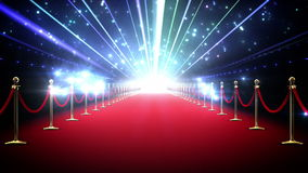 Magic red carpet loop stock footage