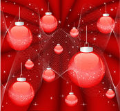 Magic red christmas background Stock Image