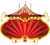 Magic red circus frame. A circus frame with a big top and a large copy space for your message