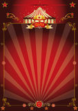 Magic red fantastic circus poster Stock Photos