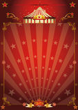 Magic red star circus poster stock image