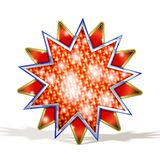 Magic Red Star. Vector Magic Red Star isolated on white  with highlights and sparks Stock Images
