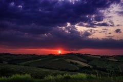 Magic red sunrise royalty free stock photo