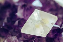 Magic reiki energy purple stone stock image
