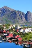 Magic  Reine in Lofoten Royalty Free Stock Photo