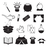 Magic Related Icons Set Stock Photos
