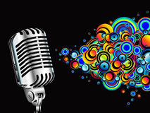 Magic retro microphone royalty free stock photography