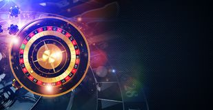 Magic Roulette Game Banner royalty free illustration