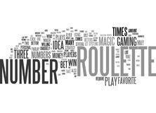 The Magic Roulette Number Text Background  Word Cloud Concept Royalty Free Stock Images