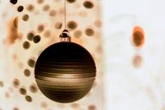 Magic round globes shining for Christmas. Magic Christmas globes with rays of illuminated round bokeh shining for the upcoming Christmas and New year winter Royalty Free Stock Photo