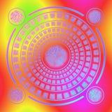 Magic rune circle Stock Image