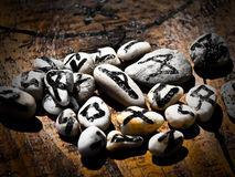 Magic runes of destiny Stock Photos