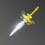 Magic sabre isolated game element Royalty Free Stock Photography